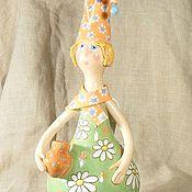 Керамика Кукла керамическая Ангел с горшочком