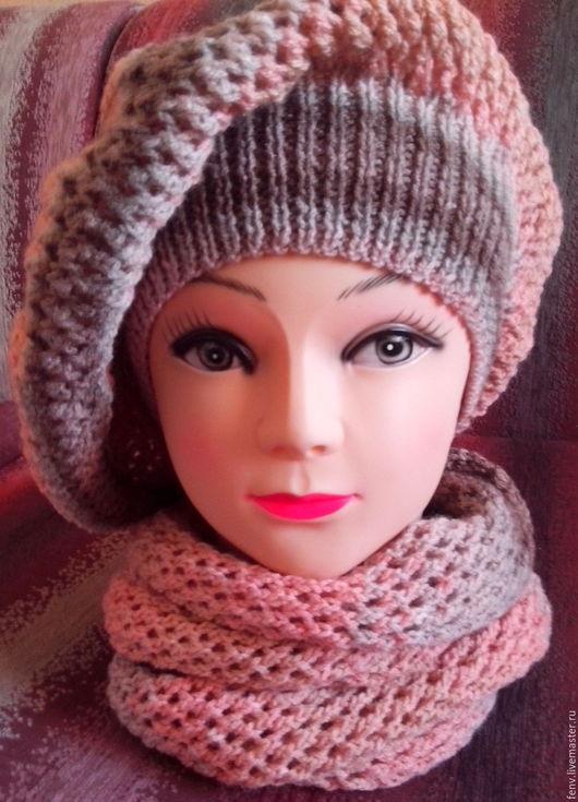 Береты ручной работы. Ярмарка Мастеров - ручная работа. Купить Берет и шарфик №3. Handmade. Берет, берет для девочки