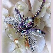 """Украшения ручной работы. Ярмарка Мастеров - ручная работа """"Purple dragonfly"""" Брошь. Handmade."""