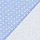 Шитье ручной работы. Заказать Немецкий трикотаж джерси нежно-голубой. Ткани из Германии (Hobbyundstoff). Ярмарка Мастеров. Ткань в горошек
