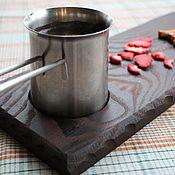 Для дома и интерьера ручной работы. Ярмарка Мастеров - ручная работа Доска поднос с углублением для чашки. Handmade.