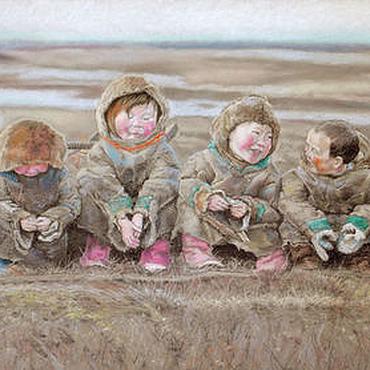 Картины и панно ручной работы. Ярмарка Мастеров - ручная работа картина пастелью Счастье - это просто... (бежевый, пепельный, осень). Handmade.