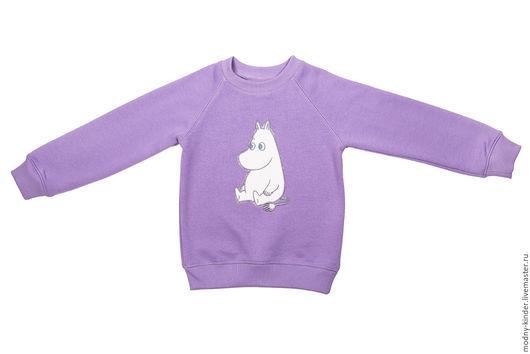 """Одежда для девочек, ручной работы. Ярмарка Мастеров - ручная работа. Купить теплый свитшот для девочки """"муми-тролль"""". Handmade. Сиреневый"""