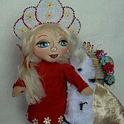 """Куклы и игрушки ручной работы. Ярмарка Мастеров - ручная работа """"Трубадурочка-Снегурочка"""".Текстильная кукла.. Handmade."""