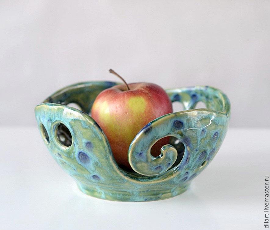 Фруктовница клубочница Волны ваза для фруктов