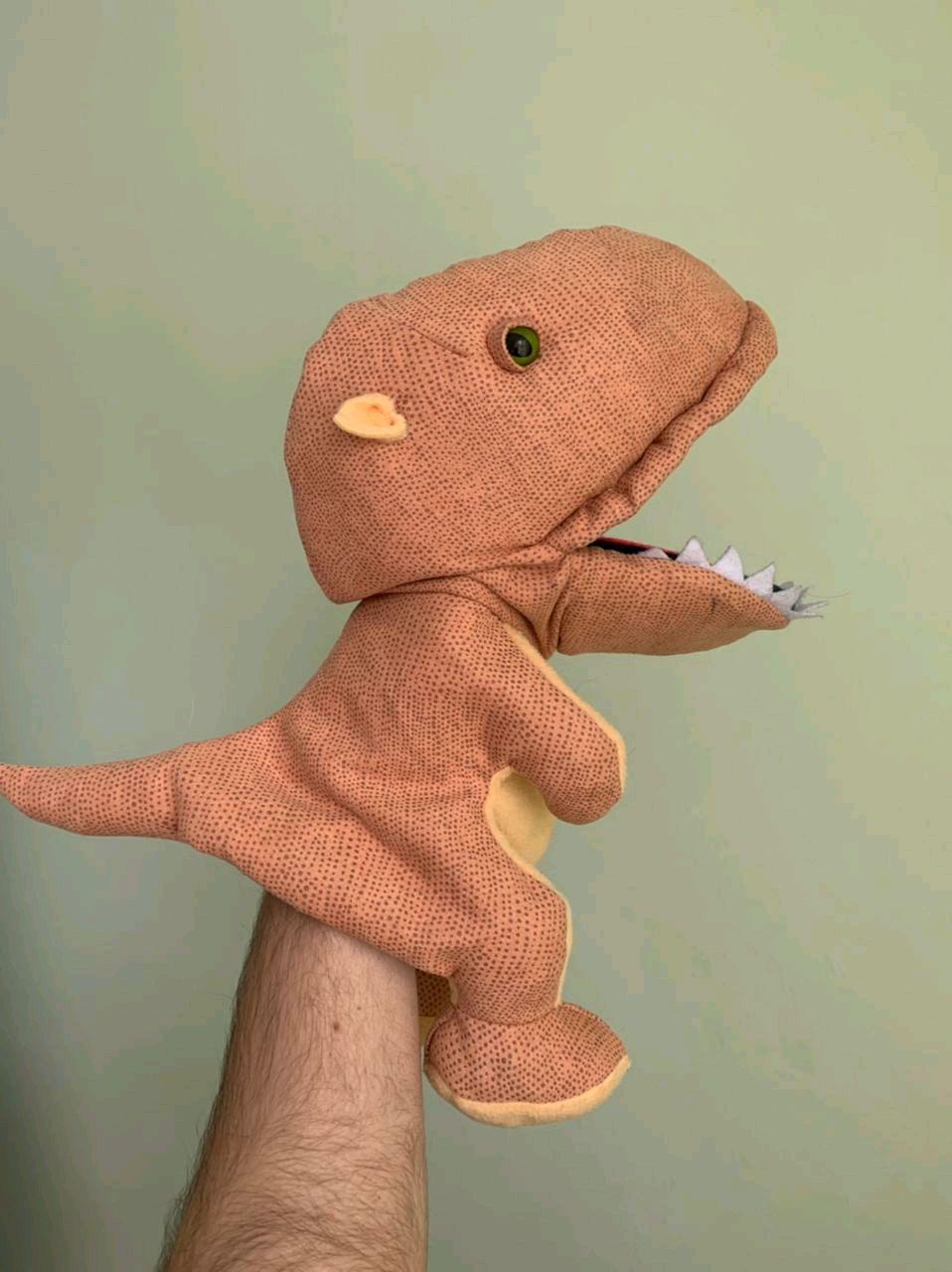 Перчаточная кукла Дракон (Динозавр)  с открывающиеся ртом, Кукольный театр, Дмитров,  Фото №1