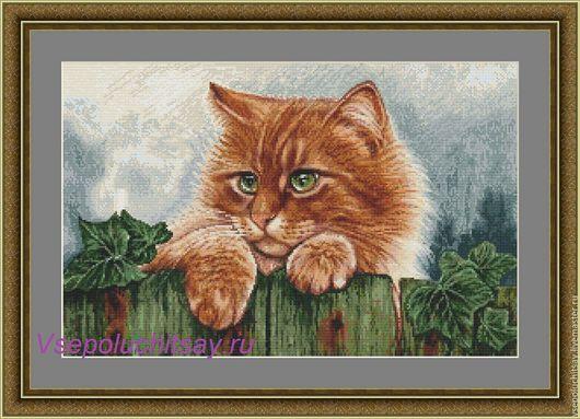 """Вышивка ручной работы. Ярмарка Мастеров - ручная работа. Купить Схема для вышивки крестом """"Тимоха"""". Handmade. Оранжевый"""
