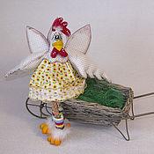Куклы и игрушки ручной работы. Ярмарка Мастеров - ручная работа Курица Цыпа Горошкина. Handmade.