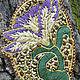 Легкий, яркий вышитый гладью кулон в виде цветка нарцисса из трунцала, настоящего богемского и японского бисера, шелка, золотого шнура.  Украшение для девушкикулон.Купить кулон подарок