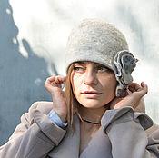 """Шляпы ручной работы. Ярмарка Мастеров - ручная работа Шляпа клош """"Быть может"""". Серая шляпка.. Handmade."""