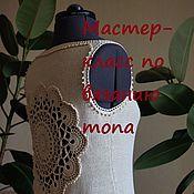 Одежда ручной работы. Ярмарка Мастеров - ручная работа Мастер-класс по вязанию топа с ажурной спиной. Handmade.