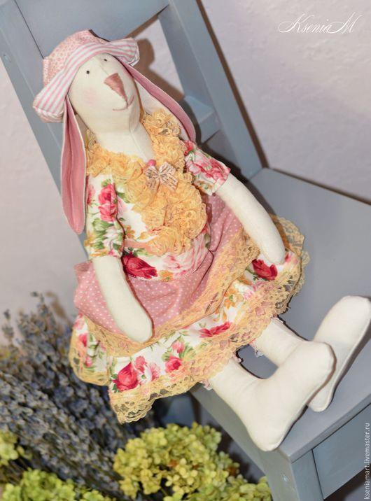 Куклы Тильды ручной работы. Ярмарка Мастеров - ручная работа. Купить Тильда зайка. Handmade. Разноцветный, тильда заяц, зайчик