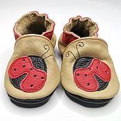 Работы для детей, handmade. Livemaster - original item Leather Baby Shoes, Ebooba, Baby Booties, Baby Moccasins. Handmade.