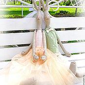 Свадебный салон ручной работы. Ярмарка Мастеров - ручная работа Свадебная пара - тектильные куклы. Handmade.