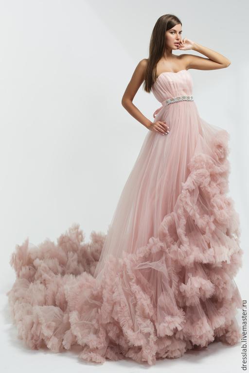 Платья ручной работы. Ярмарка Мастеров - ручная работа. Купить Lilac Cloud. Handmade. Бледно-розовый, пошив платья, бусины