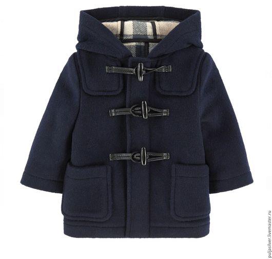 Одежда для мальчиков, ручной работы. Ярмарка Мастеров - ручная работа. Купить Пальто-дафлкот classic. Handmade. Тёмно-синий
