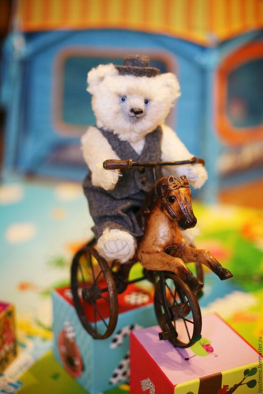 Мишки Тедди ручной работы. Ярмарка Мастеров - ручная работа. Купить Мишка тедди Мирон. Handmade. Белый, стеклянный гранулят
