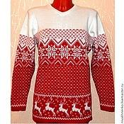 Одежда handmade. Livemaster - original item Knitted jumper with reindeer and Norwegian ornament.. Handmade.