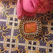 Украшения ручной работы. Ярмарка Мастеров - ручная работа Брошь с винтажным кабошоном. Handmade.
