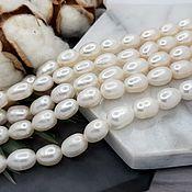 Материалы для творчества handmade. Livemaster - original item 10 PCs. Pearls of nature. Rice approx. 6,5-7 mm (thickness) white (5011). Handmade.