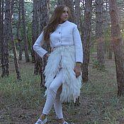 """Одежда ручной работы. Ярмарка Мастеров - ручная работа """" SnowWhite"""" пальто из мериносовой шерсти с флисом Кроссбред. Handmade."""