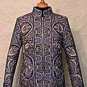 Одежда ручной работы. Ярмарка Мастеров - ручная работа Пальто Подмосковные вечера(из платка). Handmade.