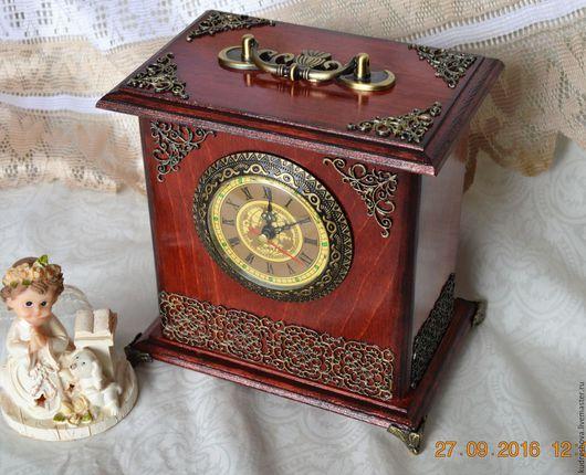 """Часы для дома ручной работы. Ярмарка Мастеров - ручная работа. Купить Часы настольные, часы каминные, часы-шкатулка """" В ажуре"""". Handmade."""