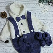 Сувениры и подарки handmade. Livemaster - original item Knitted jumpsuit for children