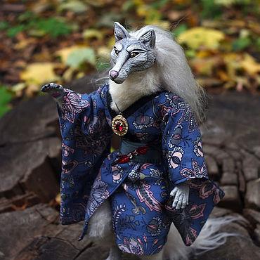 Куклы и игрушки ручной работы. Ярмарка Мастеров - ручная работа Куклы: Сказочный волк в кимоно. Handmade.