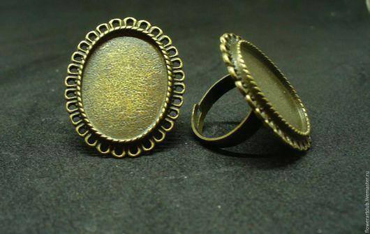 Другие виды рукоделия ручной работы. Ярмарка Мастеров - ручная работа. Купить Основа под кольцо -  античная бронза - № 4. Handmade.
