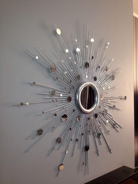 """Зеркала ручной работы. Ярмарка Мастеров - ручная работа. Купить Зеркало солнце """"Кассиопея"""". Handmade. Зеркало солнце, авторская работа"""