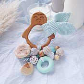 Работы для детей, handmade. Livemaster - original item Juniper rodent with ears, a gift for the birth of a son. Handmade.