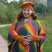 Одежда ручной работы. Ярмарка Мастеров - ручная работа Слингопончо из Кауни с беретом для слингомам и остальных. Handmade.