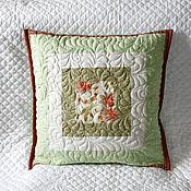 Для дома и интерьера ручной работы. Ярмарка Мастеров - ручная работа Лоскутная подушка.. Handmade.