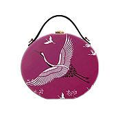 Сумки и аксессуары handmade. Livemaster - original item Women`s round bag made of wood with artistic painting. Handmade.