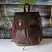 Сумки и аксессуары handmade. Livemaster - original item Backpack brown women`s leather exclusive model. Handmade.