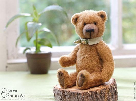 Коричневый мишка Брауни - мишка Тедди без одежды с воротничком.