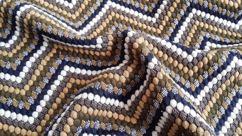 Knitwear-knit 'Zigzag' khaki, Fabric, Moscow,  Фото №1