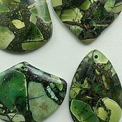 Материалы для творчества handmade. Livemaster - original item pendant-a pendant made of jasper with pyrite(4pcs). Handmade.