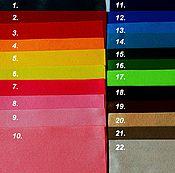 Материалы для творчества ручной работы. Ярмарка Мастеров - ручная работа Фетр мягкий. 1 мм. Фетр листовой. Фетр для рукоделия.. Handmade.