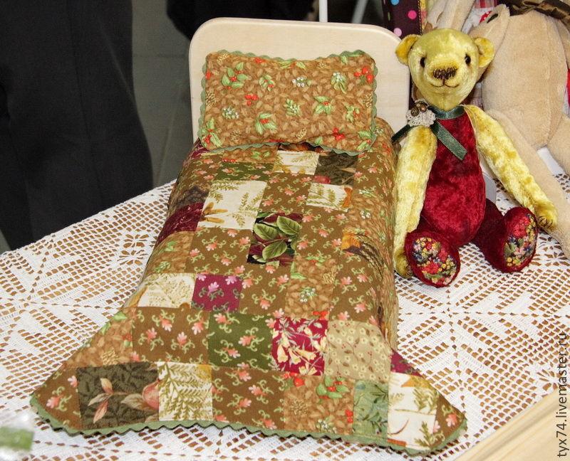 Кроватка для зверюшки или куклы (тёмный комплект), Мебель для кукол, Краснодар,  Фото №1