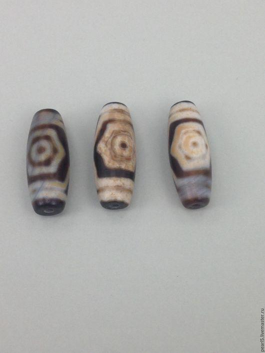 Бусины Дзи трехглазая из агата (№5-7)
