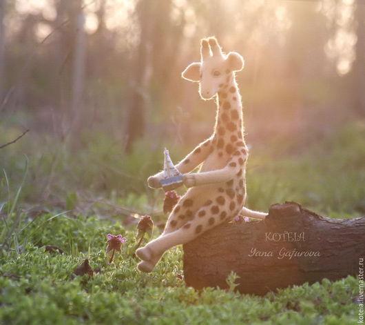 Игрушки животные, ручной работы. Ярмарка Мастеров - ручная работа. Купить Валяная игрушка Жираф Оливер. Handmade. Жираф