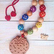 Одежда ручной работы. Ярмарка Мастеров - ручная работа Слингобусы радужные с клубничкой. Handmade.