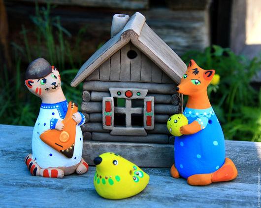 Освещение ручной работы. Ярмарка Мастеров - ручная работа. Купить Сказочный домик-светильник. Handmade. Комбинированный, светильник, свечка, глина