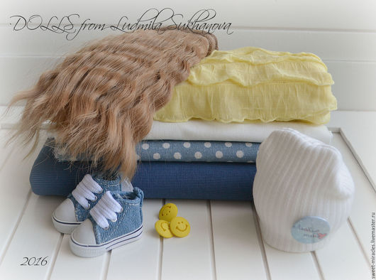 Куклы и игрушки ручной работы. Ярмарка Мастеров - ручная работа. Купить Набор для самостоятельного пошива куколки 75. Handmade. Синий