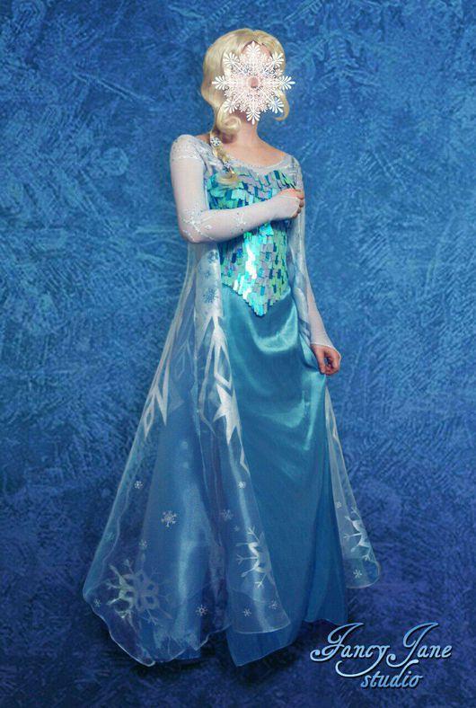 Карнавальные костюмы ручной работы. Ярмарка Мастеров - ручная работа. Купить Косплей костюм Холодное сердце -  Эльза. Handmade. Голубой