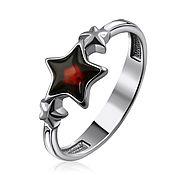 Украшения handmade. Livemaster - original item Silver ring, with natural amber in the shape of a star. Handmade.