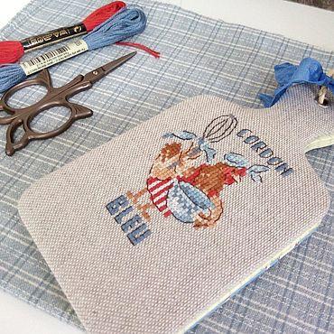 Stationery handmade. Livemaster - original item Notebook for recipes hand embroidery chicken. Handmade.