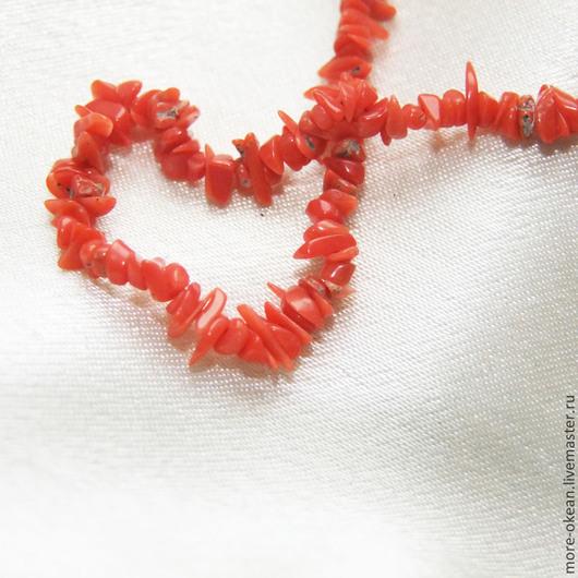 Для украшений ручной работы. Ярмарка Мастеров - ручная работа. Купить ЧИПСЫ итальянский красный коралл 1 см. Handmade.